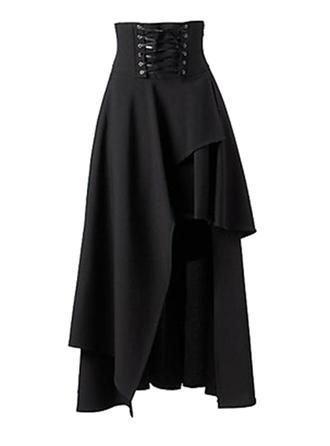 Poliester Równina Maxi Spódnice A-Line