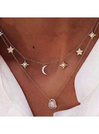 Wyjątkowy Szykowny Chłodny Stop Z Gwiazda Księżyc Dla kobiet Ladies ' Dziewczyny Naszyjniki