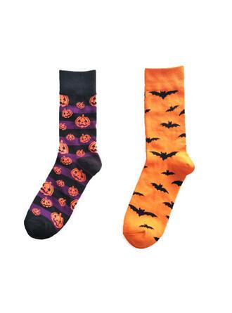 Wygodny/Halloween/Dynia/Bat Shaped Skarpety (Zestaw 2 par)