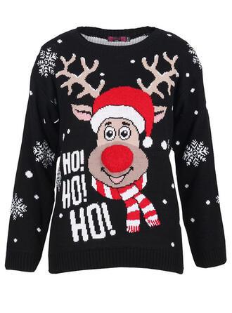 Unisex Poliester Renifer List Brzydki świąteczny sweter