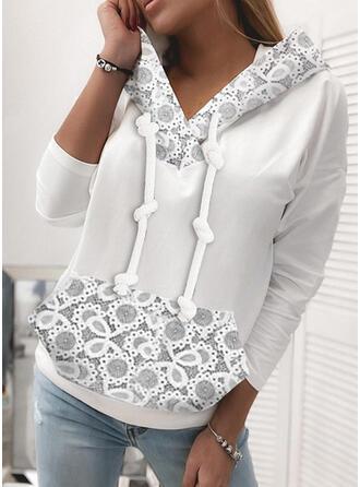 Lace Long Sleeves Hoodie