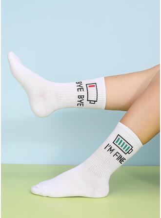 szydełka Crew Socks Skarpety