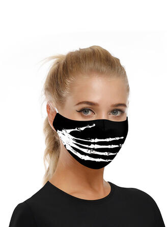 Oddychająca/Ochronny/Wygodny/Nadruk czaszki/Wielokrotnego użytku/Halloween/Przyjazny Dla Skóry/Zmywalny Maski na twarz