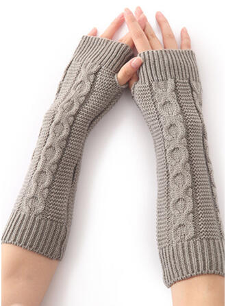 Solid Color/Crochet simple/Comfortable Gloves