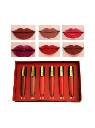 6 PCS Matte Lip Sets With Box