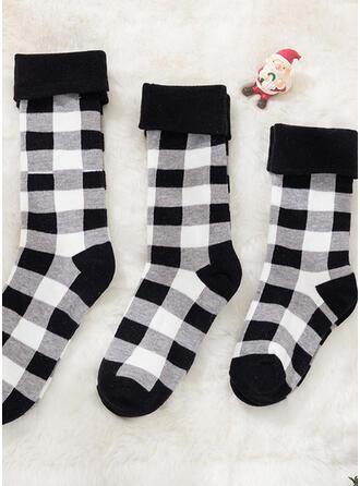 Plaid Breathable/Comfortable/Christmas/Crew Socks/Family Matching/Unisex Socks