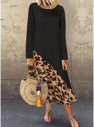 lampart Długie rękawy Koktajlowa Casual Maxi Sukienki