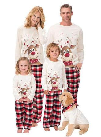 Deer Kratę Kreskówka Rodzinne Dopasowanie Świąteczne piżamy Piżama