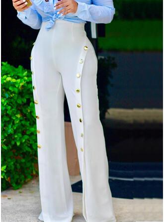 Jednolity Niejednolita całość Długo Elegancki Seksowny Spodnie