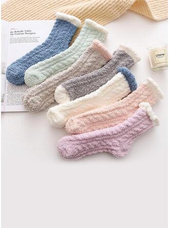 Jednolity kolor prosty/Crew Socks Skarpety