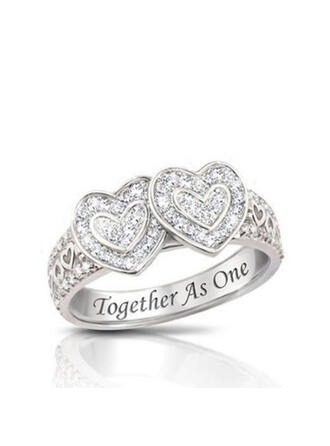 Charming Pretty Artistic Romantic Alloy With Rhinestones Women's Rings