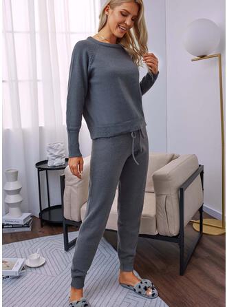 Jednolity Długo Nieformalny Spodnie