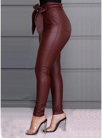 Niejednolita całość Duży rozmiar Kokarda Długo Elegancki Seksowny Spodnie