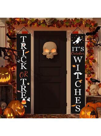 Przerażające Halloween Cukierek albo psikus Oxfordská tkanina Dekoracje na Halloween Znak werandy