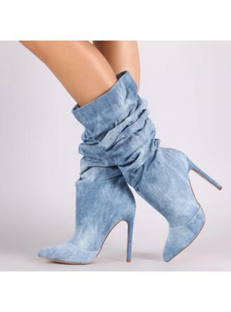 Dla kobiet Dżinsowa Obcas Stiletto Z Jednolity kolor obuwie