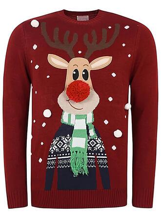 Unisex Poliester Wydrukować Renifer Brzydki świąteczny sweter