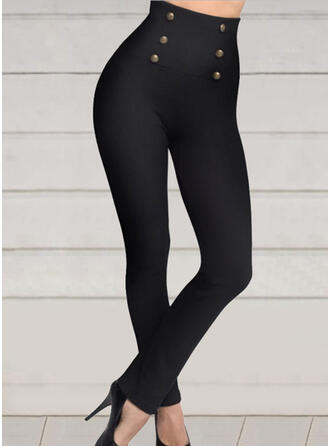 Solid Plus Size Sexy Sporty Yoga Leggings