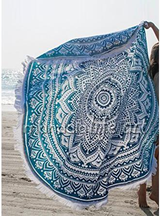 retro / vintage/Frędzle/Bohemia lekkie/Oversized/okrągły/Wielofunkcyjny/Bez piasku/Szybkie schnięcie ręcznik plażowy