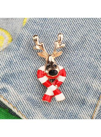 Świecący Boże Narodzenie Stop Z Stras/ Krysztal Górski Broszki Moda
