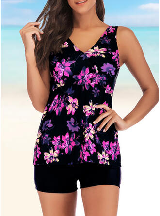 Floral Print Strap Casual Amazing Exquisite Novelty Luxury Tankinis Swimsuits