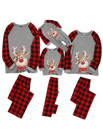 Deer Kratę Rodzinne Dopasowanie Świąteczne piżamy