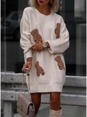 Zwierzę Okrągły dekolt Nieformalny Swetry