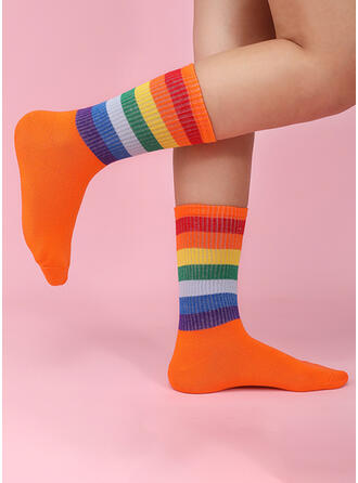 Kolorowy Wygodny/Kobiet/Prosty Styl Skarpety