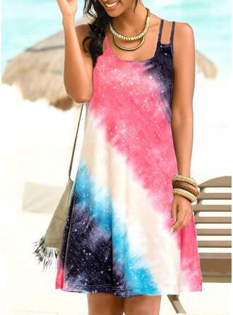 Kolor splotu Gradient W prążki Dekolt w kształcie litery U Duży rozmiar Kolorowy Nieformalny Okrycia Stroje kąpielowe