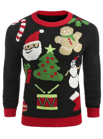 Unisex Poliester Święty Mikołaj Kreskówka Brzydki świąteczny sweter