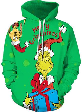 Unisex Nadruk Wytłaczany Brzydki świąteczny sweter