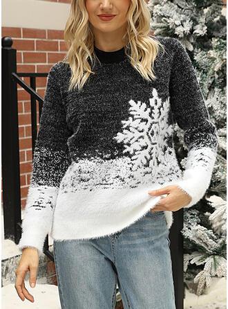 Damskie Mieszanki bawełny Wydrukować Brzydki świąteczny sweter