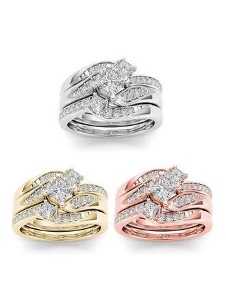 Hottest Fancy Alloy Zircon With Zircon Rings