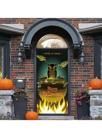 gotyk Halloween Cukierek albo psikus PVC Dekoracje na Halloween Znak werandy