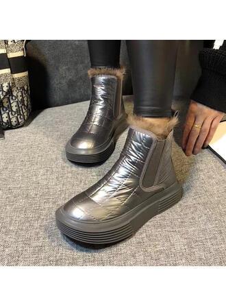 Dla kobiet Tkanina Płaski Obcas Round Toe obuwie