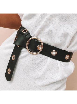 Fashionable O-ring Buckle Alloy Leather Women's Belts