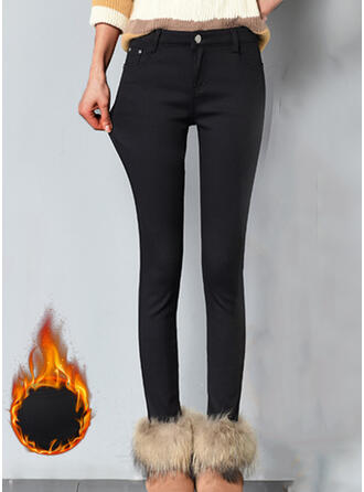 Solid Plus Size Elegant Sexy Pants