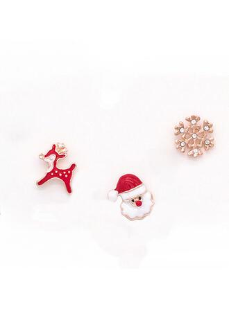 Nicea Kolorowe Prosty Boże Narodzenie Stop Faux Pearl Z Imitacja Pereł Dla kobiet Kolczyki Komplet 6