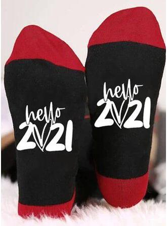 Geometric Print/Letter/Print fashion/Breathable/Crew Socks/Unisex Socks