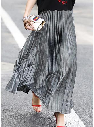 Mieszanki Bawełny Równina Maxi Plisowane spódnice