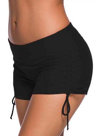 Solid Color Bottom Strapless Casual Bottoms Swimsuits