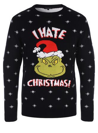 Unisex Poliester Wydrukować List Brzydki świąteczny sweter