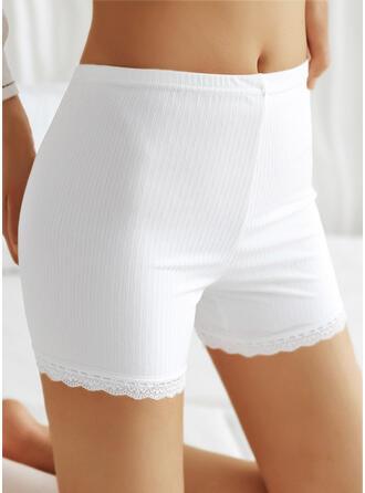 Jednolity Koronka Nieformalny Spodnie Szorty Sztylpy