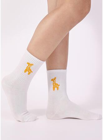 Jednolity kolor/Szyfon Crew Socks Skarpety
