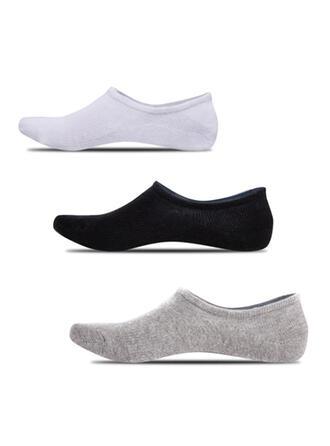 Solid Color Non Slip/No Show Socks/Unisex Socks (Set of 5 pairs)