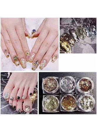 6 szt Naklejka Nail Art Zdobienie paznokci złotą folią ()
