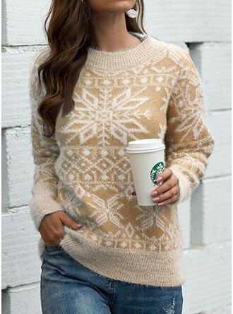 Damskie Bawełna Wydrukować Brzydki świąteczny sweter