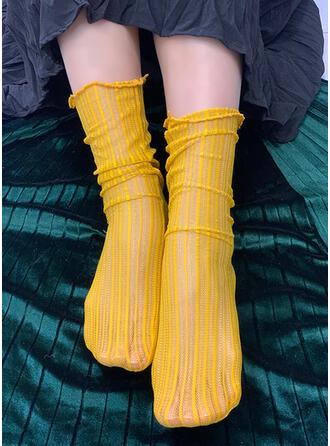 Striped/Hollow fashion/Breathable/Women's/Crew Socks Socks