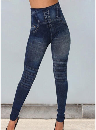 Print Shirred Plus Size Sexy Skinny Yoga Leggings