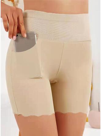 Jednolity Nad kolanem Nieformalny Duży rozmiar Pocket Szorty Sztylpy