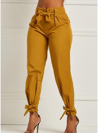 Jednolity Marszczona Długo Elegancki Seksowny Spodnie